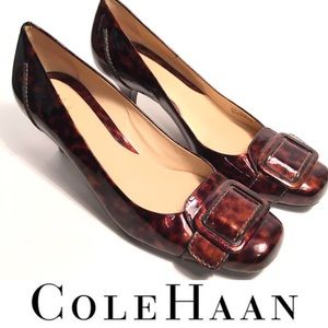 COLE HAAN Toe Kitten Heel Leather Pumps Career